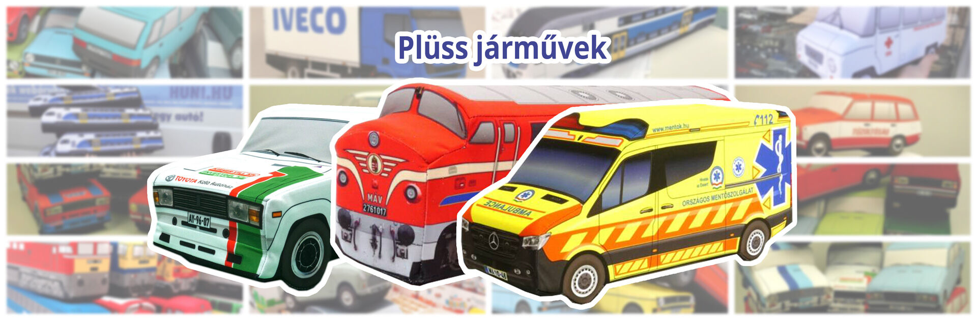 Plüss járművek 2