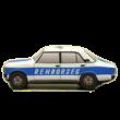 Plüss Lada 2107 Rendőr