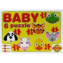 Baby 6 puzzle - állatok