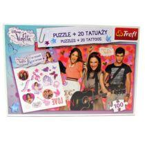 Violetta puzzle-100 db+20 db tetoválás