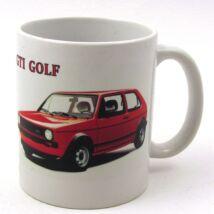 Retró bögre-Volkswagen GTI Golf