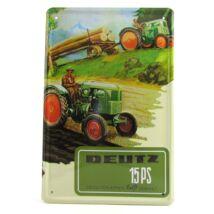 Fém Dekortábla 20 x 30 cm Traktor