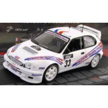 Toyota Corolla WRC Rally 1:43 modellautó vitrinben