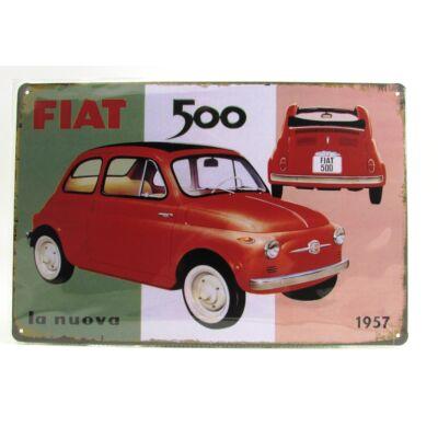 Fém Dekortábla 20 x 30 cm - Fiat 500