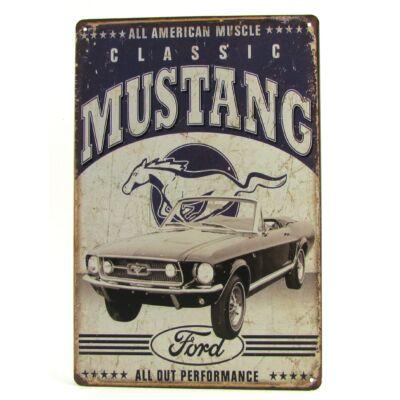 Fém Dekortábla 20 x 30 cm - Ford Mustang