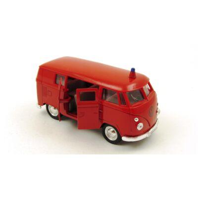 Volkswagen szirénás busz játékautó