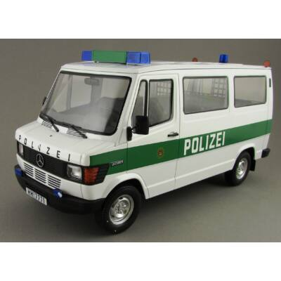 Mercedes 208D Bus Polizei 1:18 Modellautó
