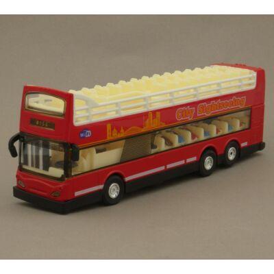 Városnéző Turistabusz Modellautó