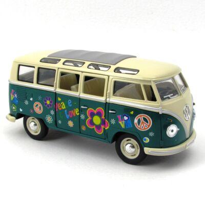 VW Classic busz virágos 1:24 fémautó