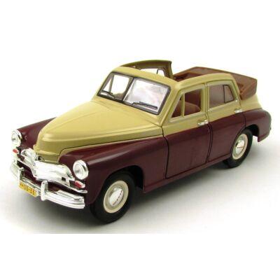 GAZ M20 Pobeda Cabrio 1:24  bordó fémautó