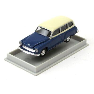 Wartburg 311 Kombi modellautó vitrinben Automodell