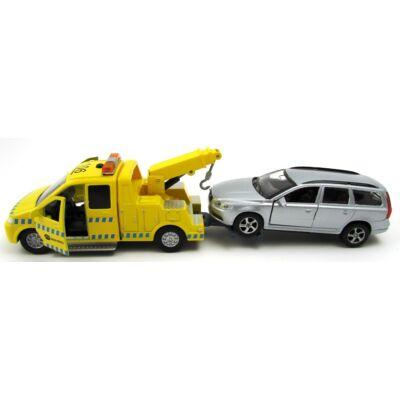 Autómentő hanggal és fénnyel - Volvo autóval ezüst makettautó