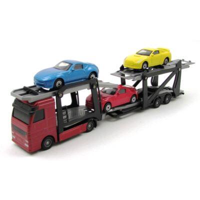 Autószállító kamion játékautó 2