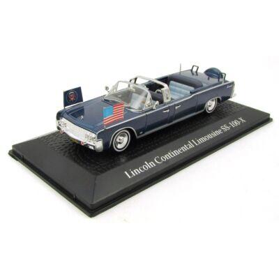 Lincoln Continental Limousine SS 100 X vitrinben - Elnöki Széria / J.F.Kennedy gyűjtőknek