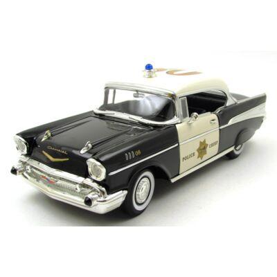 Chevrolet Bel Air 1957 Police autómodell 2