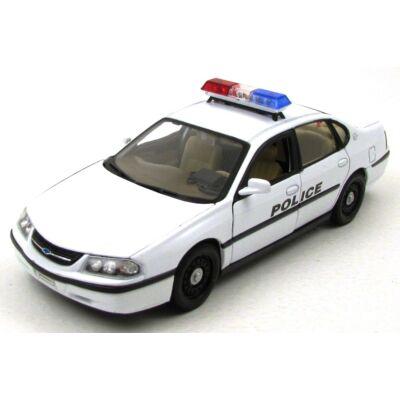 Chevrolet Impala 2001 Police 1:24 fémautó