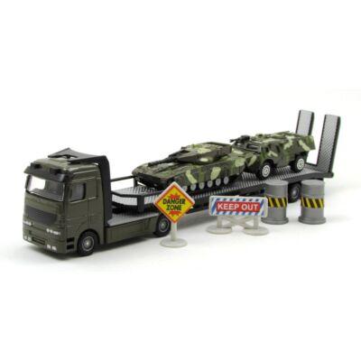 Katonai járműszállító kamion kisautó 4
