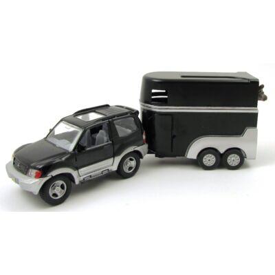 Mitsubishi lószállító utánfutóval játékautó 3