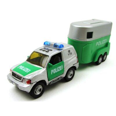 Mitsubishi Police lószállító utánfutóval játékautó 2