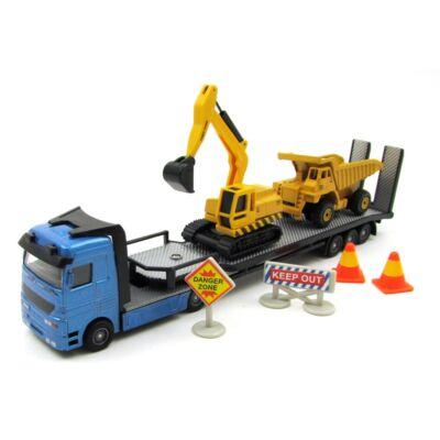 Munkagépszállító kamion játékautó 2
