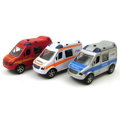 Speciális járművek hang és fény effekttel autómodell