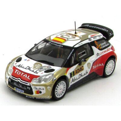 Citroen DS3 WRC Rally 2013 modellautó vitrinben fémautó