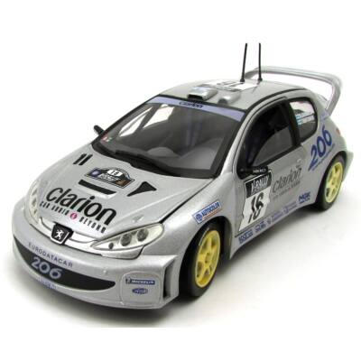 Peugeot 206 WRC 1:18 fémautó 2