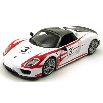 Porsche 918 Weissach 1:24 fémautó