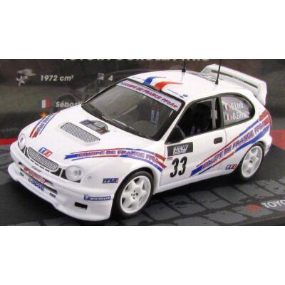 oyota Corolla WRC Rally 1:43 modellautó vitrinben Gyűjtőknek