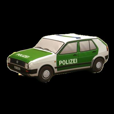 Plüss Volkswagen Golf II. Német Rendőr