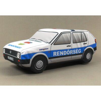 Plüss Volkswagen Golf II. Rendőr
