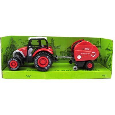 Traktor arató utánfutóval 3