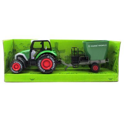 Traktor utánfutóval 2