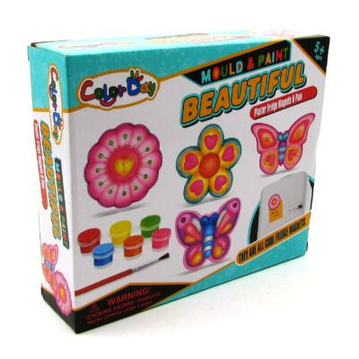 Festhető gipsz hűtőmágnes - pillangós 1