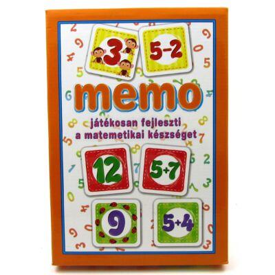 memo játék - matematika