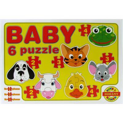 Baby 6 puzzle - állatok 1