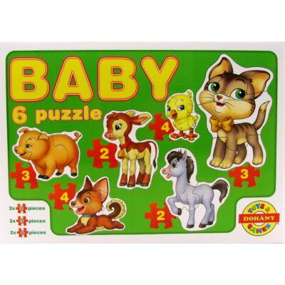 Baby 6 puzzle - háziállatok 1