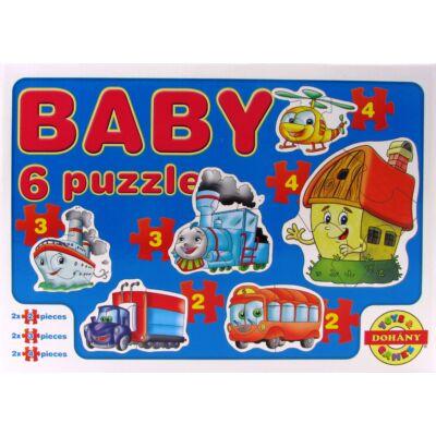Baby 6 puzzle - járművek 1