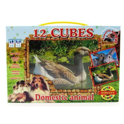Mesekocka 12 db-háziállatok 1