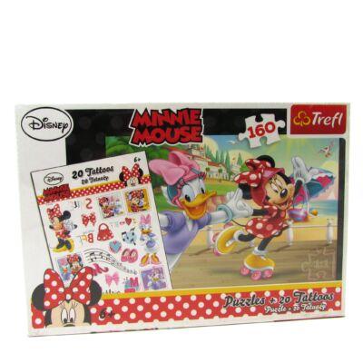 Minnie Mouse puzzle-160 db+20 db tetoválás