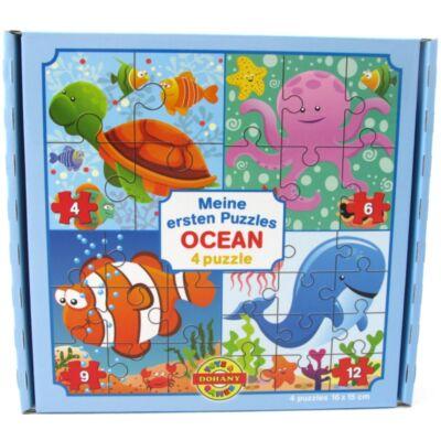 Puzzle 4 képes óceán mintával 1