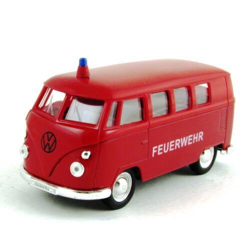 Volkswagen T1 Busz Feuerwehr 1963 Modellautó